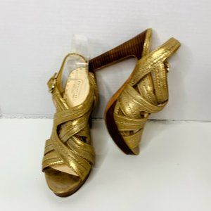 Coach Brynne Leather Strappy Heels Sandals